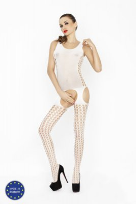 Catsuit PASSION BS029 biely S-L