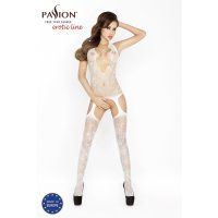 Catsuit PASSION BS017 biely S-L