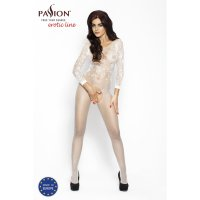 Catsuit PASSION BS007 biely S-L