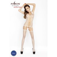 Catsuit PASSION BS013 biely S-L