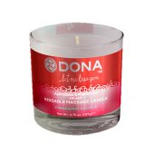 Sviečka masážna DONA KISSABLE MASSAGE CANDLE strawberry