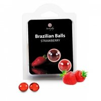 Telový olej BRAZILIAN 2 BALLS SET strawberry