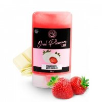 Lubrikačný gél jedlý white chocolate and strawberry 34 g