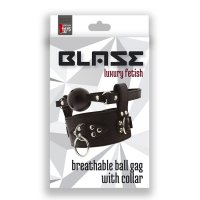 Kolík s obojkom BLAZE Breathable BALL GAG WITH COLLAR