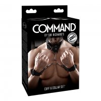 Bondage SR COMMAND CUFF & COLLAR SET