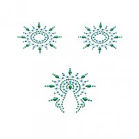 Lepítka GLORIA glittering jewelry green and blue 3 ks