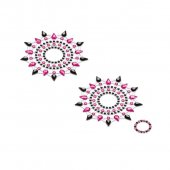 Lepítka GLORIA glittering jewelry black and pink 2 ks