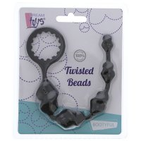 Korále análne DREAM TOYS TWISTED BEADS black