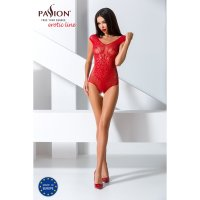 Catsuit PASSION EXCLUSIVE BS064 červený S-L