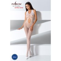 Catsuit PASSION EXCLUSIVE BS065 bílý S-L