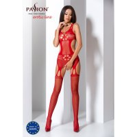Catsuit PASSION EXCLUSIVE BS066 červený S-L