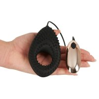 Krúžok na penis You2Toys COUPLES CUSHION vibračný black