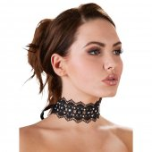 Obojok krajkový Cottelli Collection RHINESTONE CHOKER black