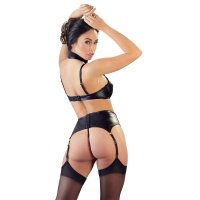 Súprava Cottelli Collection WETLOOK SUPSENDER SET black