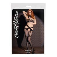 Pančuchy Cottelli Collection Crossed Suspender Belt black
