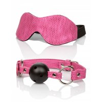 SET maska Calexotics TICKLE ME pink + kolík Calexotics TICKLE ME Ball Gag pink