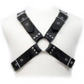 Postroj Leather Body BUCKLES HARNESS black