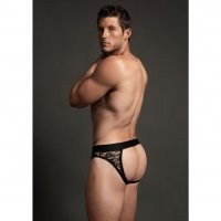 Slipy LUCA Lace Open Back Brief black